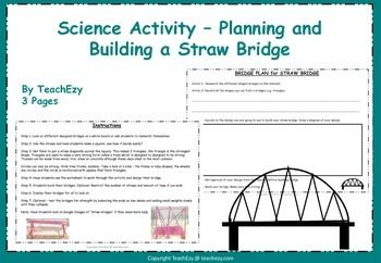 Straw Bridge Challenge - Science  This resource is VERY popular with substitute teachers. Keeps kids engaged for hours.