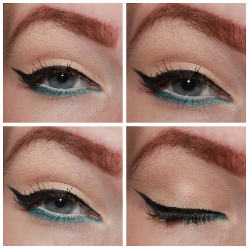 ♥: How To Used Colors Eyeliner, Cat Eyeliner, Liquid Eyeliner, Beautiful, Makeup Ideas, Crazy Eyeliner, Blue Eyeliner, Eyeliner Style, Lower Eyeliner