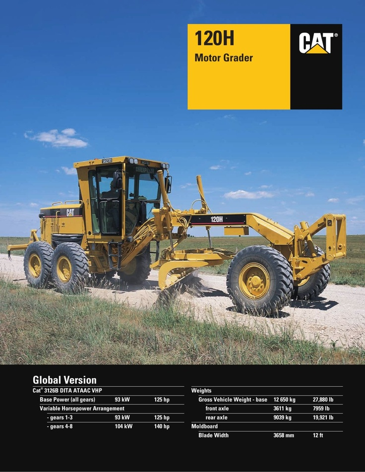 caterpillar ag equiptment | Motor Grader - Caterpillar Equipment - PDF Catalogue | Technical ...