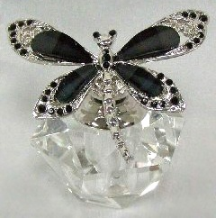 Perfume bottle  http://www.passiflora.com/Dragonfly_Butterfly_Perfume_Bottles.htm