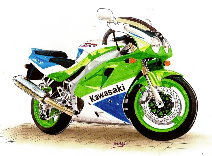 Kawasaki Ninja Zxr Black And Red