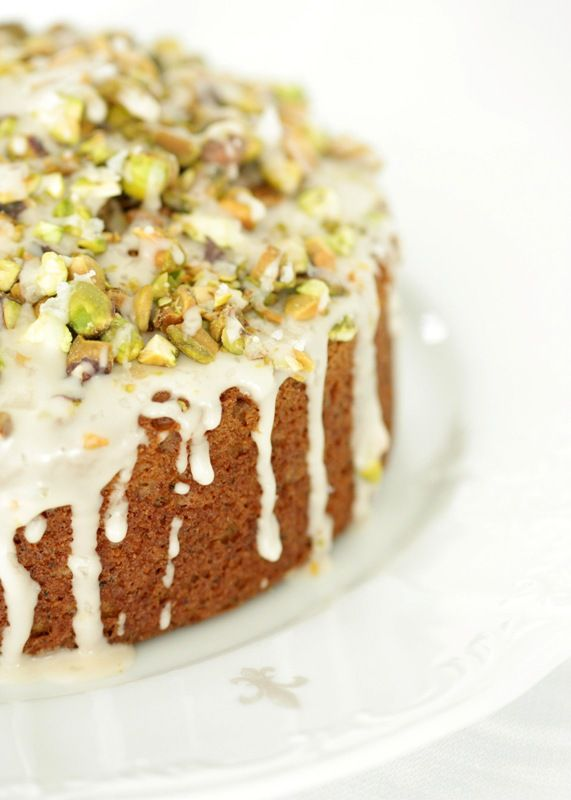 Chai salted pistachio morning cake.