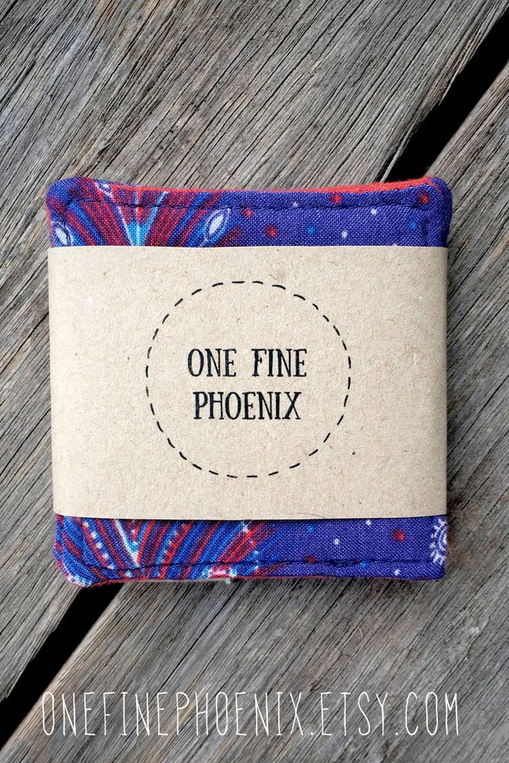Eco friendly cloth face wipes Blue and orange reusable