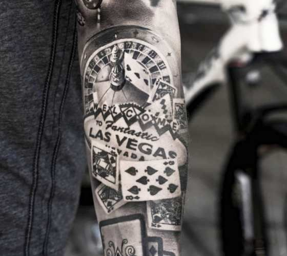 casino tattoos designs