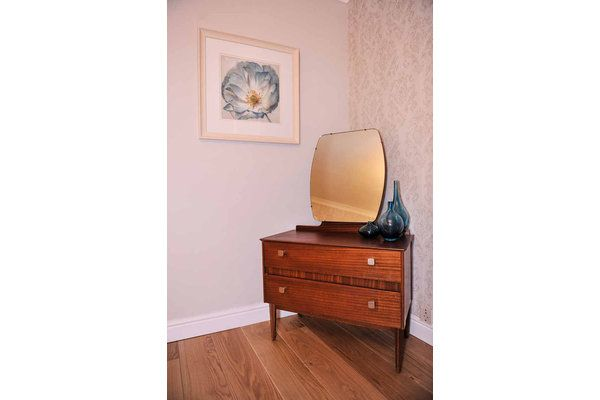 Lebus Elegant Chest Of Two Sleek Drawers With Removable Mirror 1960's |   #midcentury #modern #20thcentury