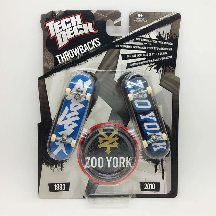 1pc Brand New double board 96mm Fingerboard Tech Decks Zoo York throwbacks Skateboard Original package boys toy