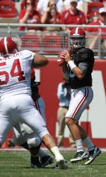 Before a crowd of 78,526, the White team defeated the Crimson team 24-15 in the annual Alabama Football Golden Flake A-Day Spring Game at Bryant-Denny Stadium Saturday.