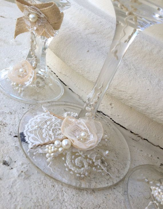 Rustic Chic wedding unity candle set 3 candles by PureBeautyArt
