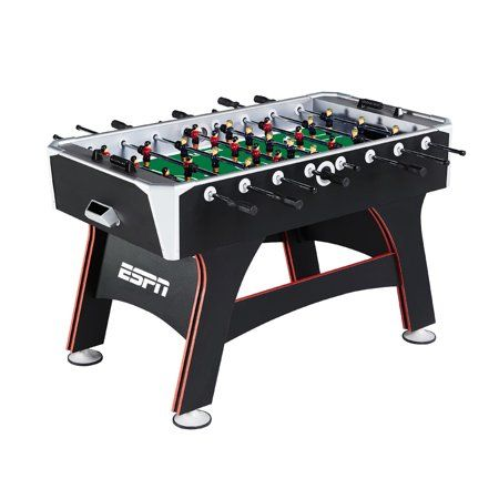 Espn 56 Inch Foosball Table Black Game Room Tables Table