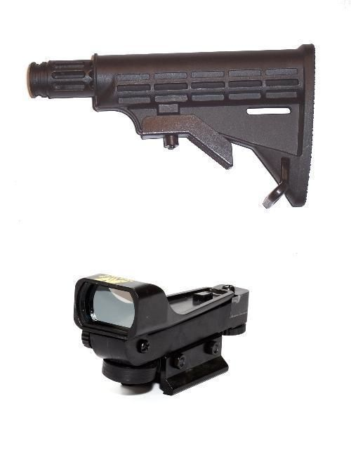NcStar Paintball Red Dot Sight DP + Internal Mount Car Stock Tippmann CARVER ONE #MQ