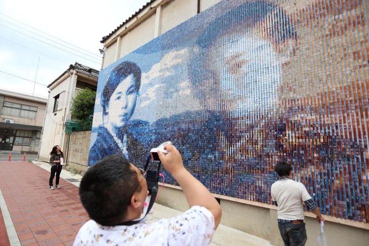 Twitter / hanaeru_odoi: #30jidori みすずさん壁画の撮影 http://t. ...