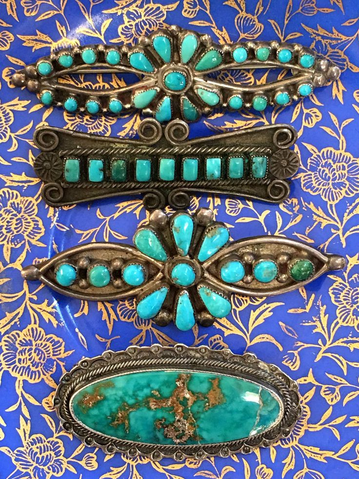 Early Navajo Turquoise Bar Pin – Yourgreatfinds