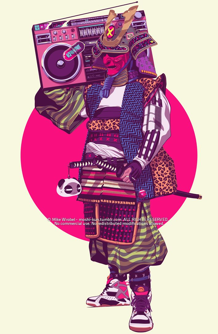 Finally done with my Hip-Hop Samurai. Gosh, this one took me forever. Perfect playlist to listen while working on this piece: The Beastie Boys discography ^_^ Shop HERE STORE - FACEBOOK - TWITTER - DRIBBBLE