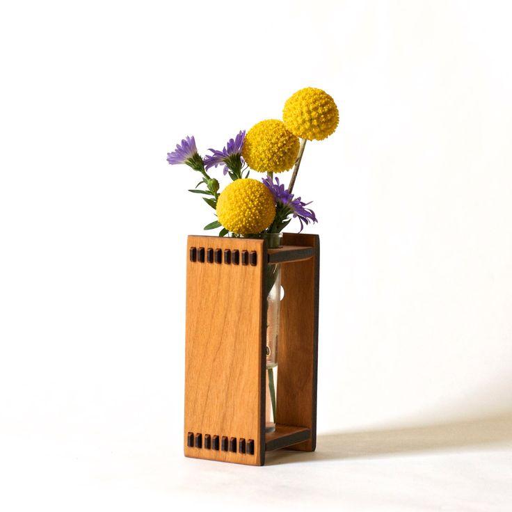Bud Vase - Wood Vase - Test Tube Vase - Wood Test Tube Vase - Decor for your Tiny House by ideasinwood on Etsy https://www.etsy.com/listing/97713872/bud-vase-wood-vase-test-tube-vase-wood