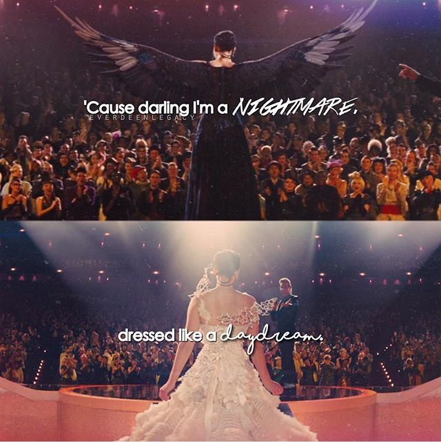 """""""Cause Darling I'm a nightmare dressed like a daydream"""" Blank Space by Taylor Swift 