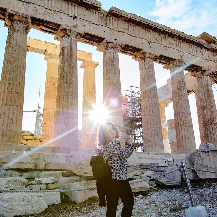 The Parthenon under the Greek sun! #beatouristinyourowncity #acropolis #parthenon #greece #nofilter