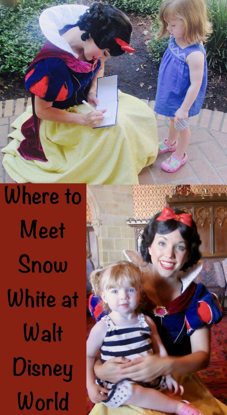 Meet Snow White At Magic Kingdom And Epcot On Your Next Vacation To Walt Disney World Find Her At Two R Snow White Disney Disney World Characters Disney World