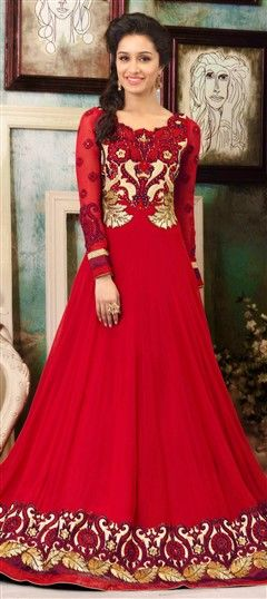 long Anarkali Suit from Shradha Kapoor's Bollywood Salwar kameez Collection