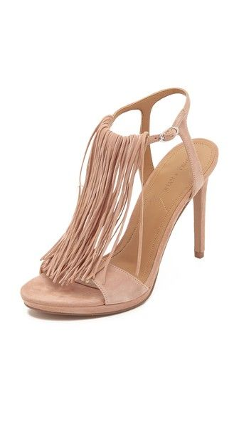 KENDALL + KYLIE Aries Fringe Sandals in Light Pink - $140
