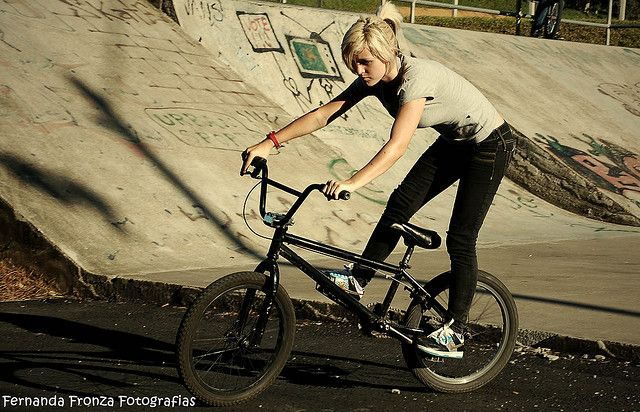 BMX! Nice to see ladies tearing it up on two wheels now!!