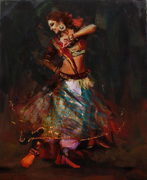 Classical Dance Art 15b by Maryam Mughal