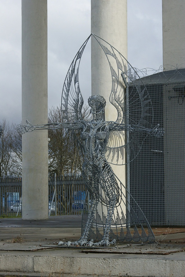 The Neptune Project Sculpture by Andy Scott at Cranhill, Glasgow