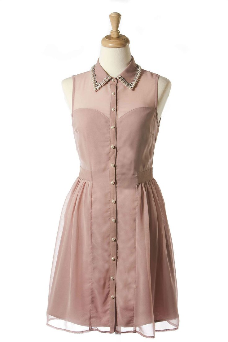 Pearly Pink Delight Dress: Pink Delight, Spring Dresses, Delight Dresses Tailored, Pink Dresses, Stylists Pink, Pears Pink, Closet, Collars Dresses, Sweet Dresses