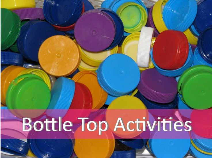 Bottle Top Activities- save your bottle lids and make your own learning manipulatives