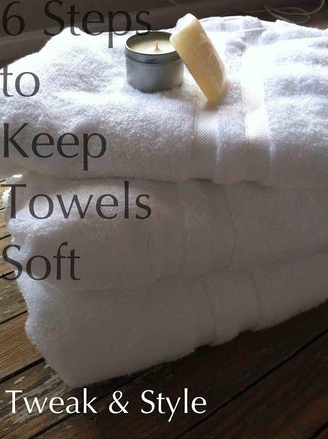 6 Steps to Keep Towels Soft (DIY recipes)
