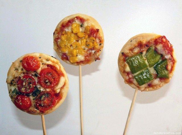 Pizza piruleta semaforo (rojo, amarillo y... verdeee...)