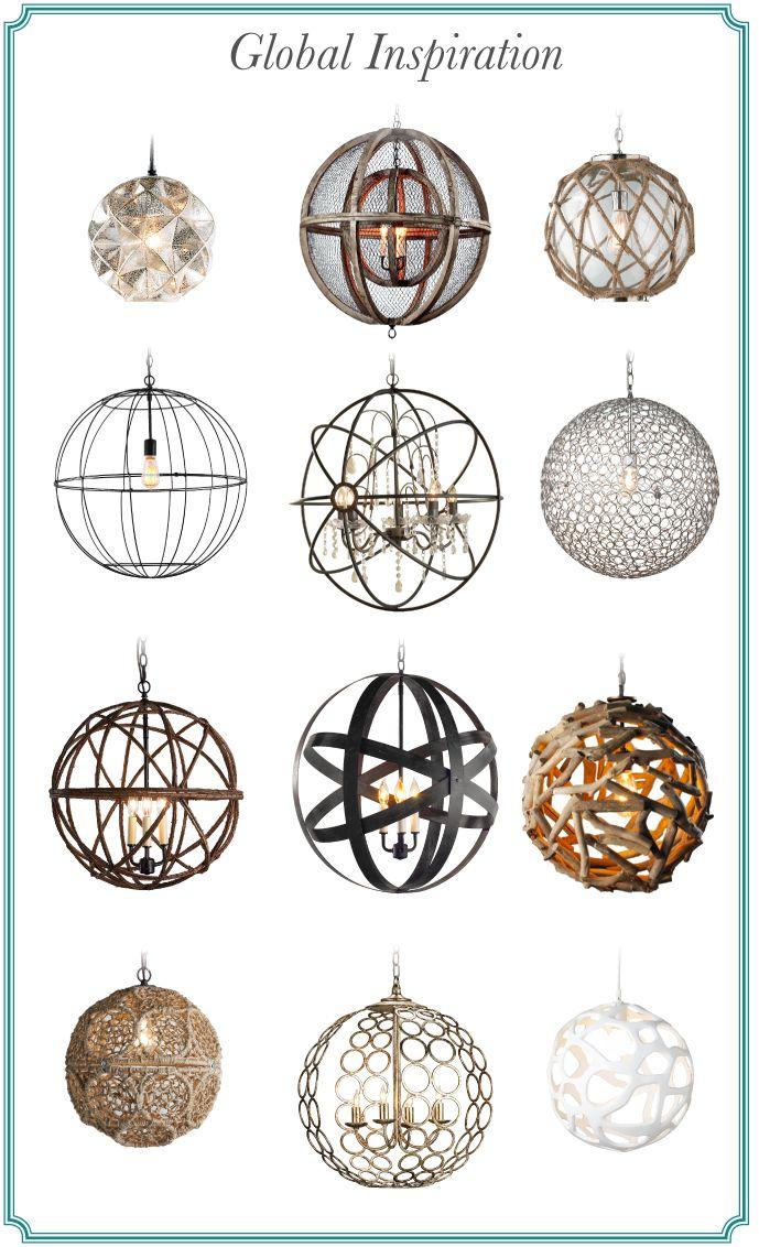 Global Inspiration: Round Lanterns, Circular Chandeliers, Spherical Pendants