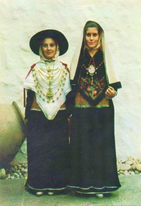 Europe | Portrait of two women wearing traditional clothes, Ibiza, Spain