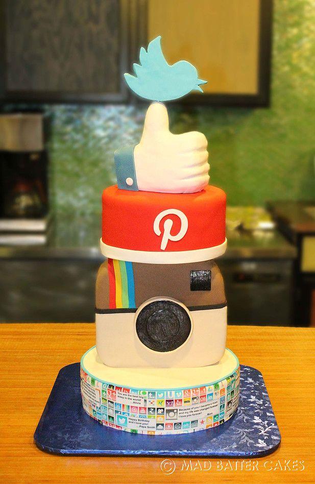 social media cake - Google Search
