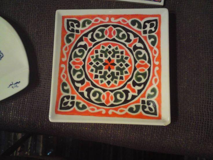 Ceramic Art | https://www.facebook.com/ZakharefArts | #khayamiya #pattern