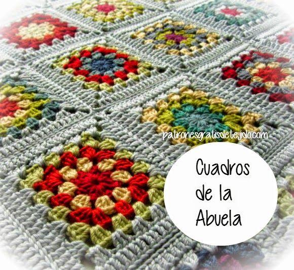 M s de 20 ideas incre bles sobre patrones de cuadrados de - Mantas de crochet a cuadros ...