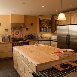 gourmet kitchen with HUGE island