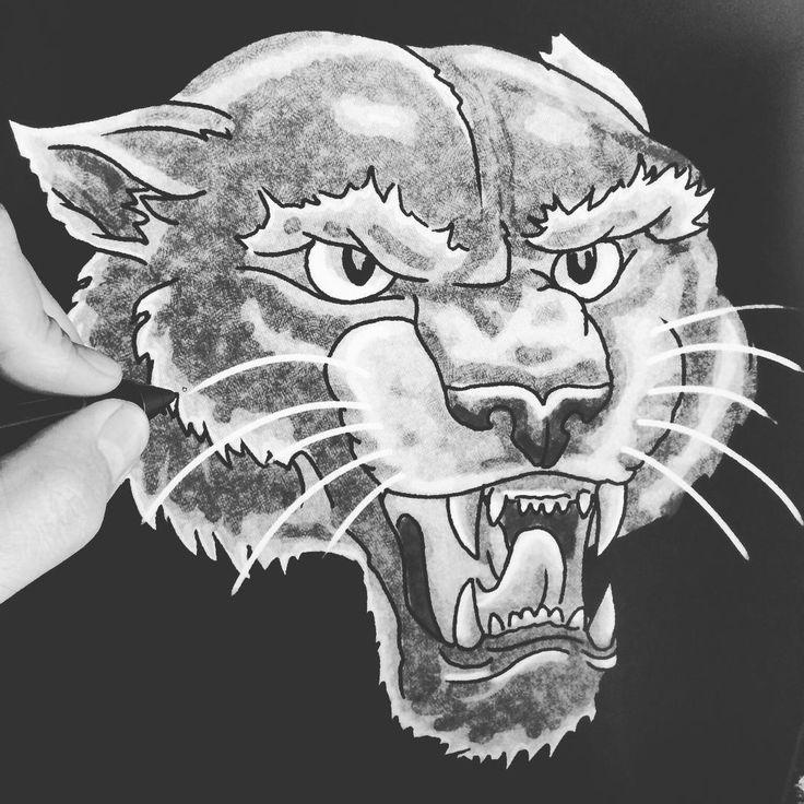 friday is sketching/drawing day #alsdesignstudio #thedustyinklab #aksellarsen #whitetee #9000 #aalborg #denmark #danish #iloveprints #printnerd #print #vintage #worn #wornout #texture #grunge #denim #denimwear #jeans #jeanswear #vintagestyle #vintagefashion #artwork #sketch #drawing #digital #ink #watercolor #panther #pantherhead