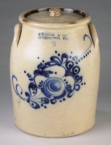 NORTON BLUE DECORATED SALT-GLAZE STONEWARE - Cowan's Auctions...beautiful