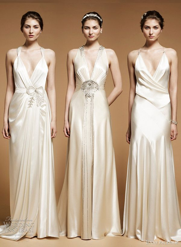jenny packham wedding dresses - art deco wedding dresses - old hollywood glam - vintage inspired bride