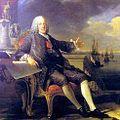 Terremoto de Lisboa de 1755. // Archivo:Louis-Michel van Loo. Marqués de Pombal mostrando la reconstrucción de Lisboa por Louis-Michel van Loo, 1766.