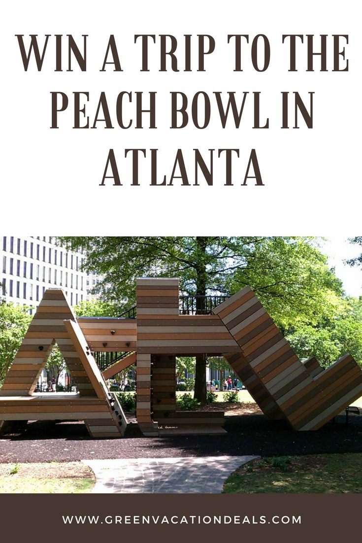 How to win a free trip to the Peach Bowl in Atlanta Georgia, including tickets to the Peach Bowl, hotel stay, $2000 gift card for tailgate party & more! Peach Bowl 2018 | Atlanta Travel Ideas | Vacation Sweepstakes | Travel Giveaways | Travel Sweepstakes | Vacation Giveaways #peachbowl #visitatlanta #atl #giveaway #sweepstakes