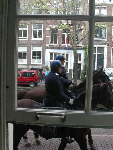 Police in front of my Windows