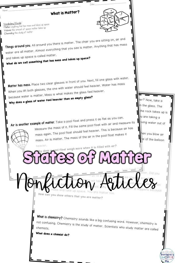 small resolution of States of Matter   Encourage nonfiction reading while covering solid