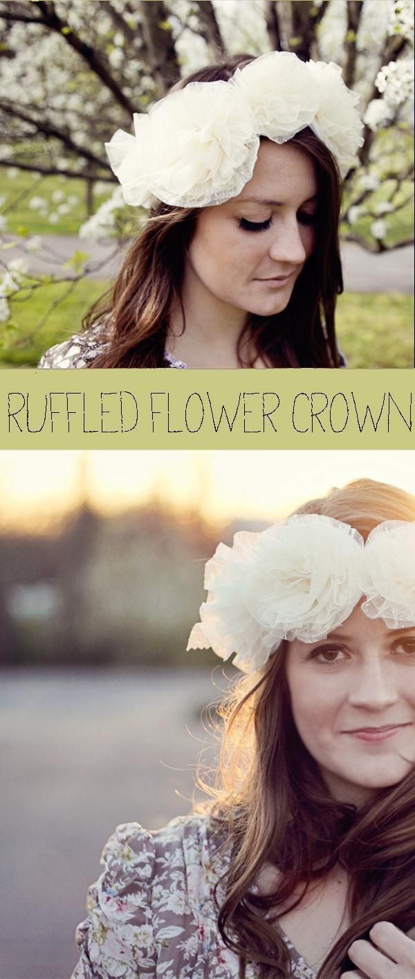 I wanted to make a DIY flower crown but I didn't have any full flowers soo go to this link and they show u how! I couldnt find the ruffle 1's tho....