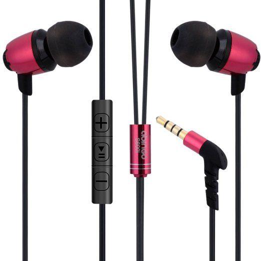 AIKAQI 高音質 インナーイヤー型イヤホン マイク付き ボリュームコントロール可能 音楽再生 重低音 ステレオインサイドホン 密閉型 カナル型 ヘッドホン iPhone対応 S600i plus レッド