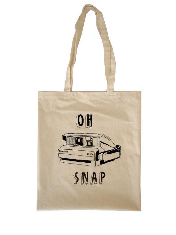 """Oh Snap"" tote bag via @Erica Cerulo Cerulo Reitman"