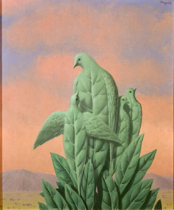 The natural graces -- MAGRITTE, Rene : 1898-1967 : Belgian | Photo Credit: [ The Art Archive / Collection Dagli Orti ] © The use of this image in certain types of media may require further clearance MONDADORI PORTFOLIO/Picture Desk Images