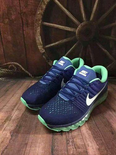 Original Nike Air Max 2017 Men Dark Blue Grey KPU Discount
