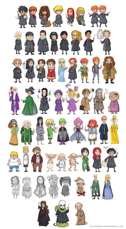 Harry Potter Characters by AAFresca.devian... on