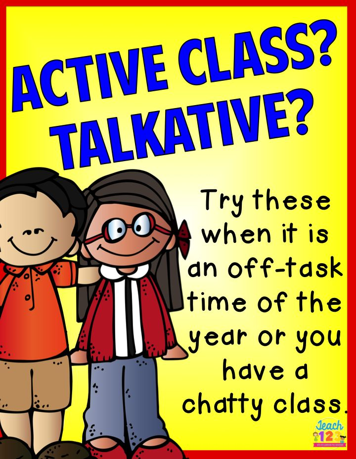 Tips for Talkative Class: Is this the year that you got the chatty class? No matter what you try, they talk ALL-OF-THE-TIME! When you go home, do you want complete silence? When you are teaching a lesson, each student feels like you are speaking directly to him or her, so each student has a comment to add to your lesson. While you don't want to temper their enthusiasm, your students do need to learn how to work and function within a group (class). paid